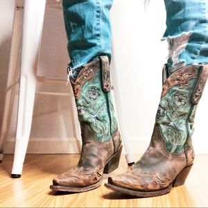 Dan Post | Vintage Blue Bird Leather Boots